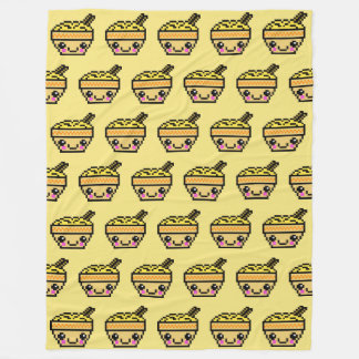 Eight Bit Kawaii Noodle Bowl TP Fleece Blanket