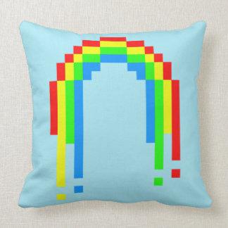 Eight Bit Rainbow Throw Pillow