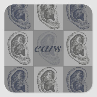 Eight Ears Graphic Square Sticker