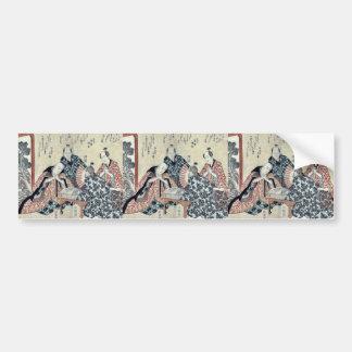 Eight great Kyoka poets 2 by Yajima, Gogaku Ukiyo Bumper Stickers