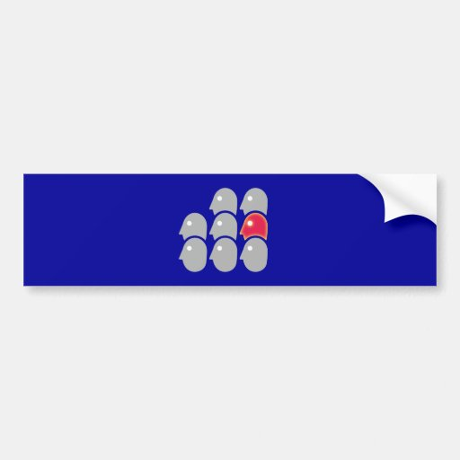Eight heads individualist loner bumper sticker