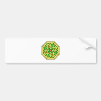 Eight-hit a corner sample flowers octagon pattern  bumper sticker