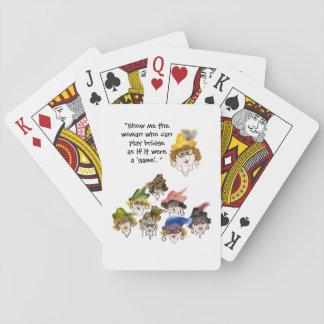 Eight Humorous Bridge Player Ladies Poker Deck