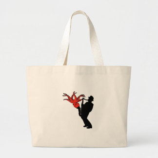 Eight Legged Melody Large Tote Bag
