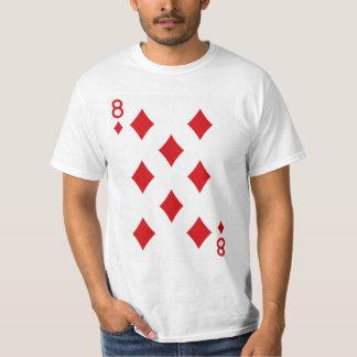 Eight of Diamonds Playing Card T-Shirt