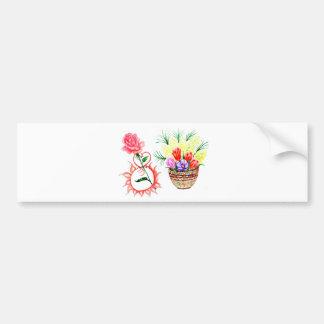 Eight of March Art Bumper Sticker