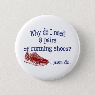 Eight Pairs Running Shoes 6 Cm Round Badge