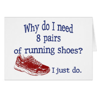 Eight Pairs Running Shoes Card