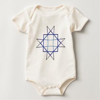 Eight Pointed Star Baby Bodysuit