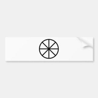 Eight Spoke Wheel Bumper Sticker