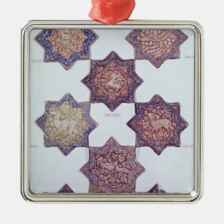 Eight tiles decorated with animals ornament