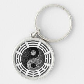 Eight Trigrams Yin Yang Embossed-Like Dragon Key Ring