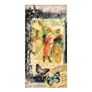 Eighteenth Century Couple Wedding Carriage Card