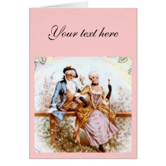 Eighteenth Century French Romance Greeting Card