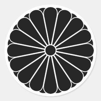 Eightfold 16 chrysanthemum classic round sticker
