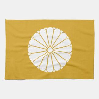 Eightfold 16 chrysanthemum tea towel