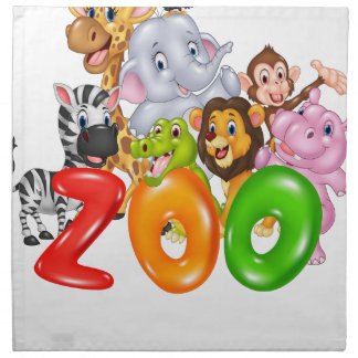 Eighth April - Zoo Lovers Day Napkin