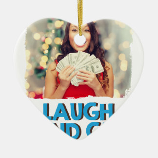Eighth February - Laugh And Get Rich Day Ceramic Heart Decoration