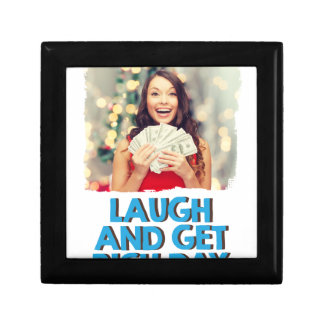 Eighth February - Laugh And Get Rich Day Small Square Gift Box
