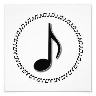 Eighth Note Music Design Photo Print