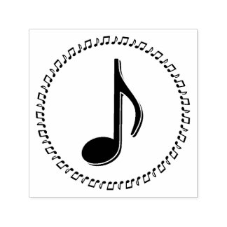 Eighth Note Music Design Self-inking Stamp