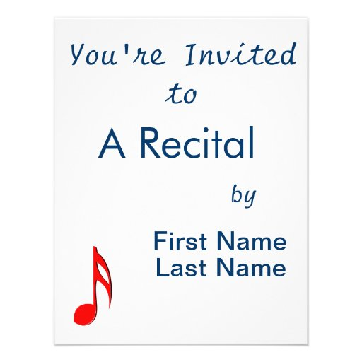 eighth note red black music design.png personalized invitation