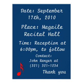 eighth note red black music design png custom invites