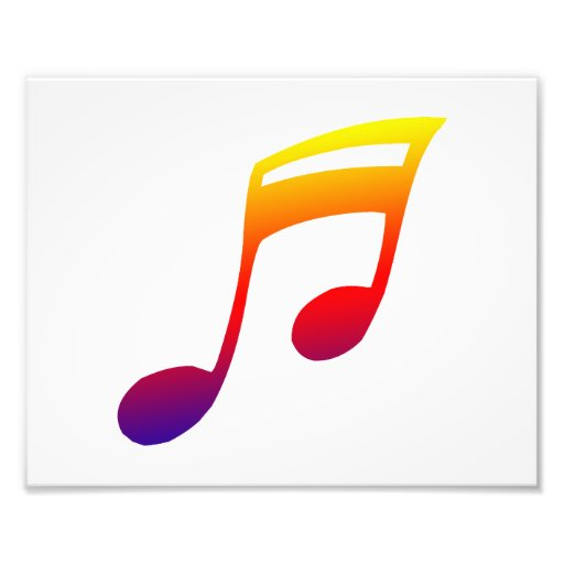 Eighth notes red yellow blue music design photograph