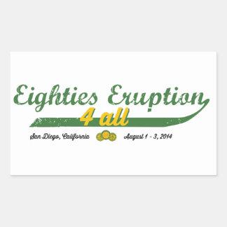 Eighties Eruption 4 All Rectangular Sticker