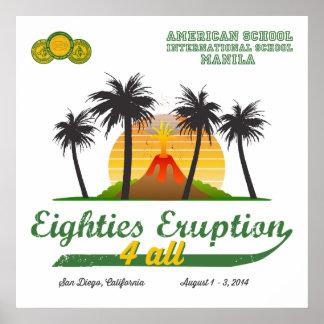 Eighties Eruption 4All Poster