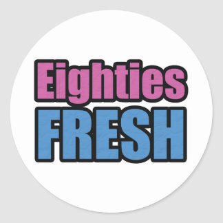 Eighties Fresh Round Sticker