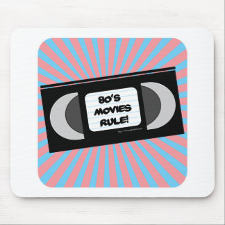 Eighties Movies Rule Mouse Pad