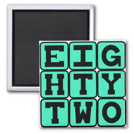 Eighty Two, Number 82 Refrigerator Magnets