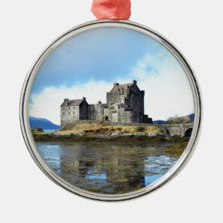 'Eilean Donan Castle' - Scotland Metal Ornament
