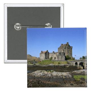 Eilean Donan Castle, Scotland. The famous Eilean 2 15 Cm Square Badge