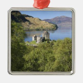 Eilean Donan Castle, Scotland. The famous Eilean Metal Ornament
