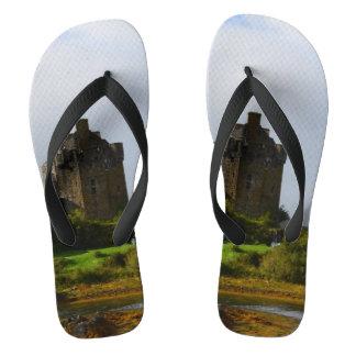 Eileen Donan Castle in Early Autumn Thongs