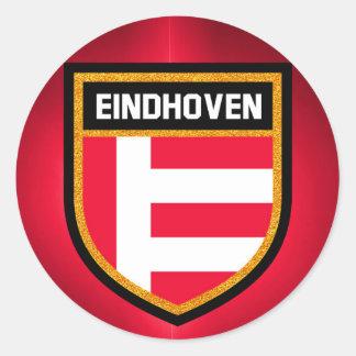 Eindhoven Flag Classic Round Sticker