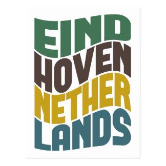 Eindhoven Netherlands Retro Wave Postcard