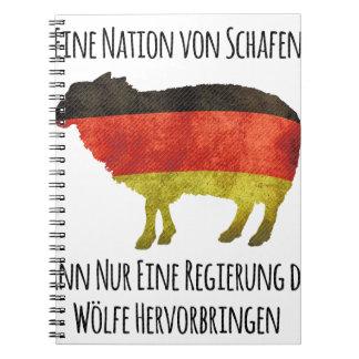 Eine Nation von Schafen kann nur eine Regierung .. Notebooks