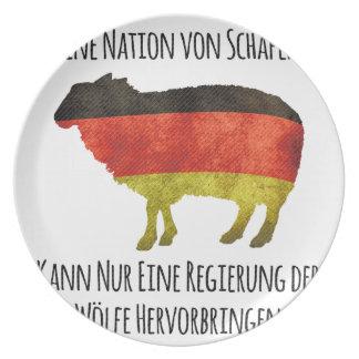 Eine Nation von Schafen kann nur eine Regierung .. Dinner Plates
