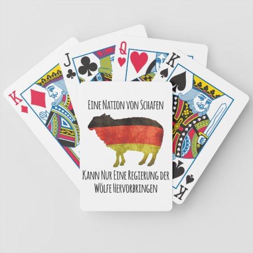 Eine Nation von Schafen kann nur eine Regierung .. Card Decks