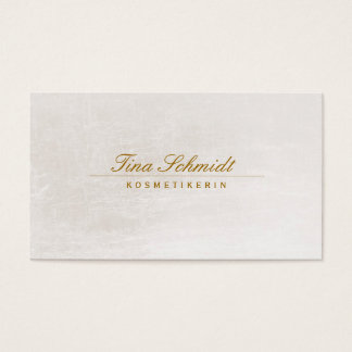 Einfache elegante Kosmetik Salon Spa Visitenkarte Business Card