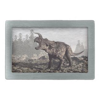 Einiosaurus dinosaur - 3D render Rectangular Belt Buckles