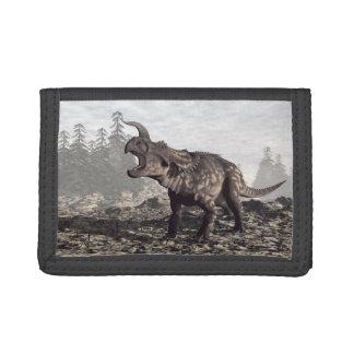 Einiosaurus dinosaur - 3D render Tri-fold Wallet