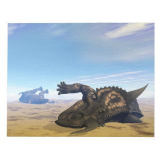Einiosaurus dinosaurs dead notepad