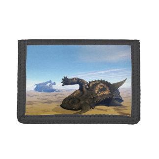 Einiosaurus dinosaurs dead trifold wallet