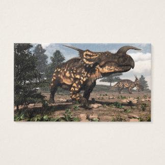 Einiosaurus dinosaurs in the desert - 3D render Business Card