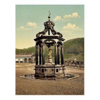Einsiedeln, the fountain, Lake Lucerne, Switzerlan Postcard