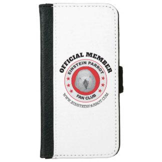Einstein Parrot African Grey Parrot Fan Club Logo iPhone 6 Wallet Case